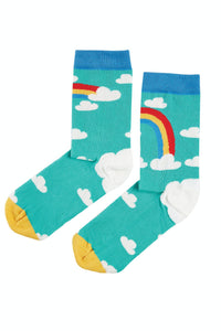 Frugi Big Foot Socks -  Bumble Bee/Rainbow