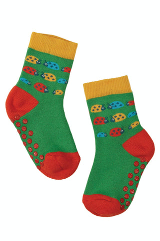 Frugi Grippy Socks 2 Pack - Ladybirds Multipack