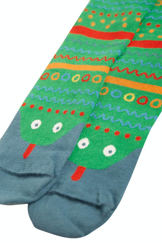 Frugi Perfect Pair Socks - Glen Green/ Snake