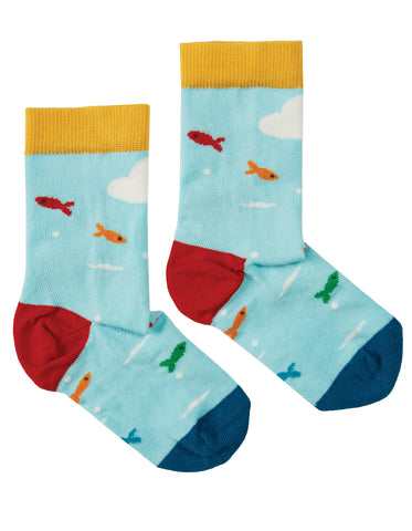 Frugi National Trust Perfect Pair Socks - Puffin