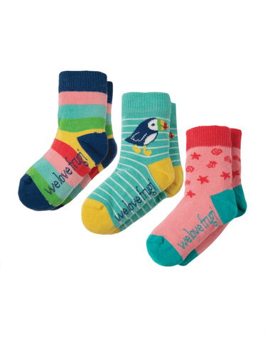 Frugi Little Socks 3 Pack - Rainbow Multipack