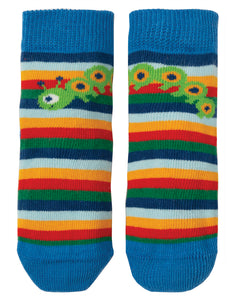 Frugi Perfect Little Pair Socks - Multi Rainbow Stripe/Bug