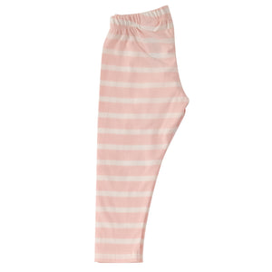 Pigeon Organics Long Leggings - Breton Stripe, Pink