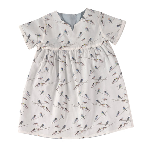 Pigeon Organics Pretty Reversible Dress - Birds