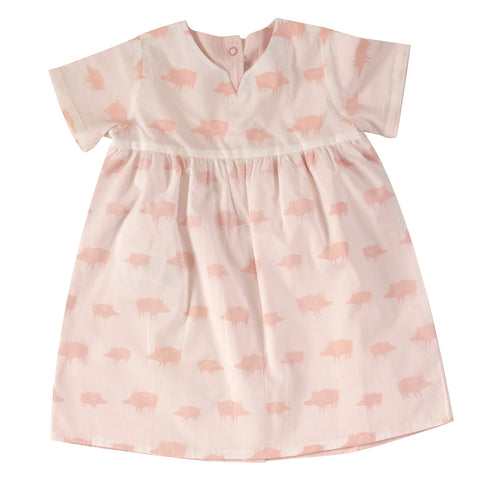 Pigeon Organics Pretty Reversible Dress - Pink Piglets