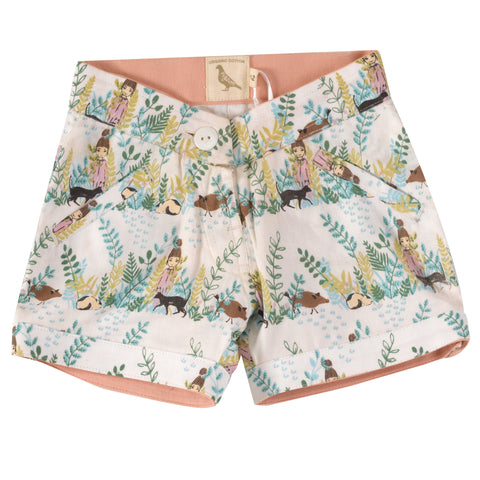 Pigeon Organics Printed Shorts - Secret Garden