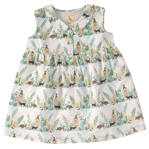 Pigeon Organics Sleeveless Dress with Peter Pan Collar - Secret Garden