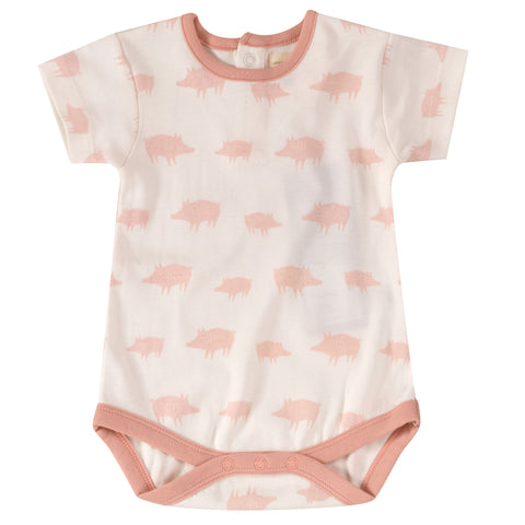 Pigeon Organics Summer Body - All Over Print, Pink Piglets