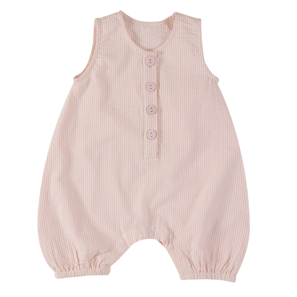 Pigeon Organics Baby All-In-One (Seersucker) - Pink