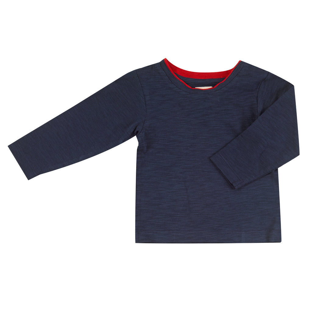 Pigeon Organics Long Sleeve T-shirt - Navy Slub