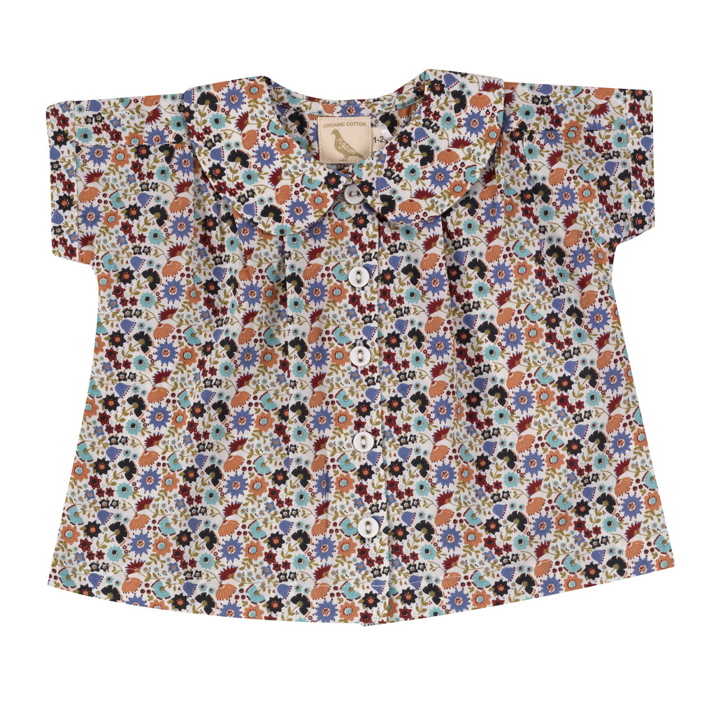 Pigeon Organics Blouse with Peter Pan collar - Ditsy