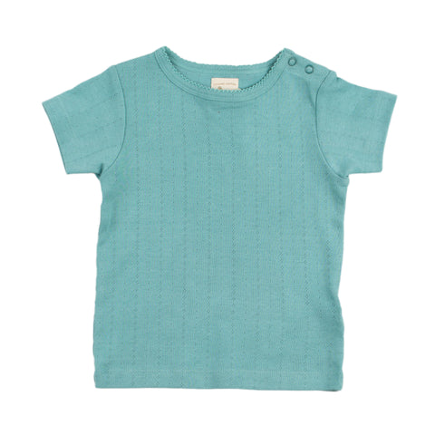 Pigeon Organics Pointelle T-Shirt - Turquoise