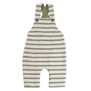 Pigeon Organics Reversible Jersey Dungarees - Olive