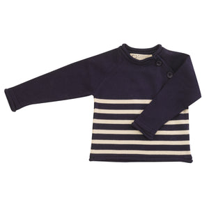 Pigeon Organics Cotton Knit Jumper (Striped) - Navy/White