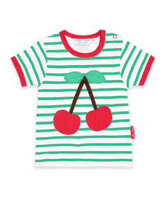 Toby Tiger Cherry Applique T-Shirt