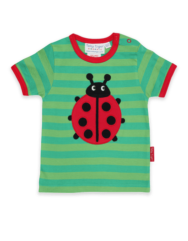 Image of Toby Tiger SS T-Shirt - Ladybird Applique