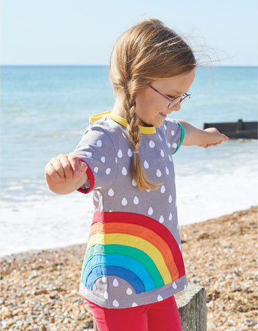 Toby Tiger Raindrop with Rainbow Applique T-Shirt