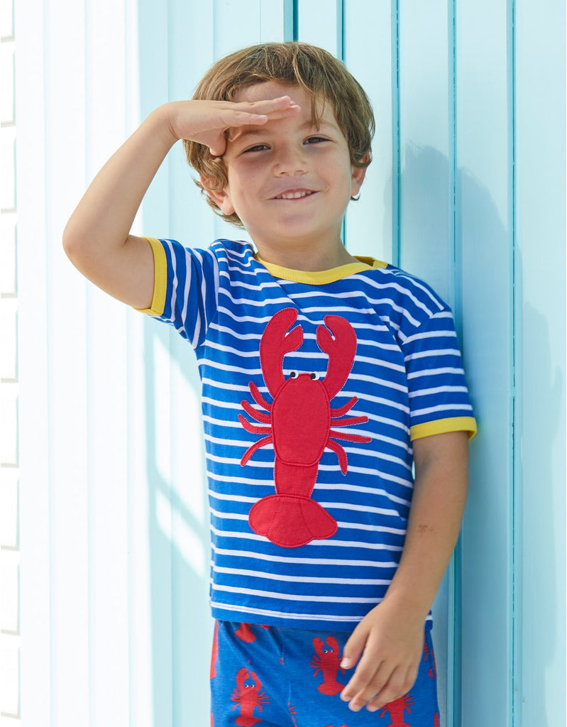 Toby Tiger SS T-Shirt - Lobster Applique
