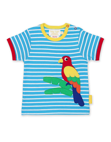 Image of Toby Tiger Parrot Applique SS T-Shirt