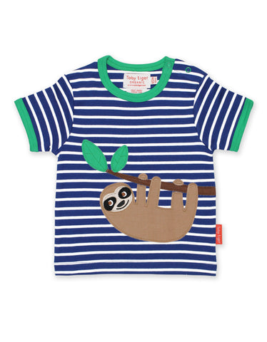 Toby Tiger Sloth Applique SS T-Shirt