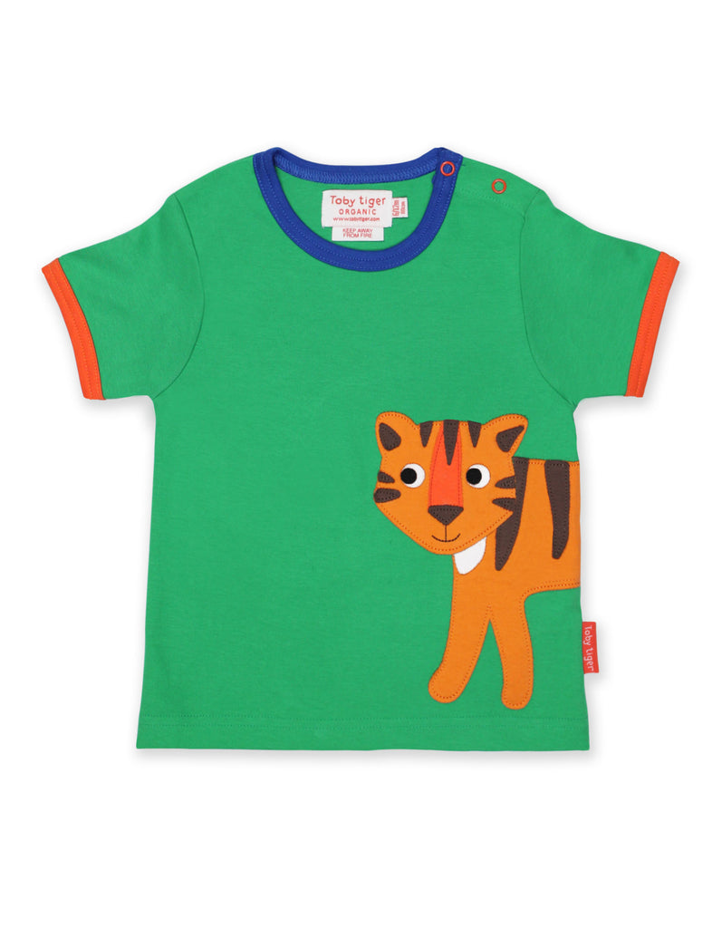 Toby Tiger, Tiger Applique SS T-Shirt
