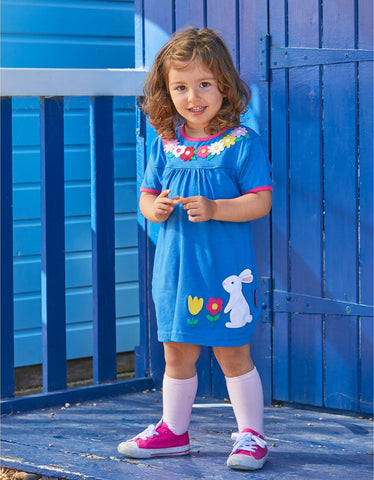 Image of Toby Tiger Blue Easter Rabbit Dress