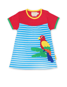 Toby Tiger Parrot Applique SS Dress