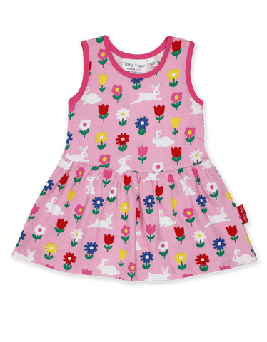 Toby Tiger Bunny Print Summer Dress