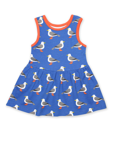 Image of Toby Tiger Seagull Print SS Summer Dress