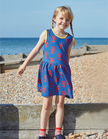 Toby Tiger Lobster Print Summer Dress
