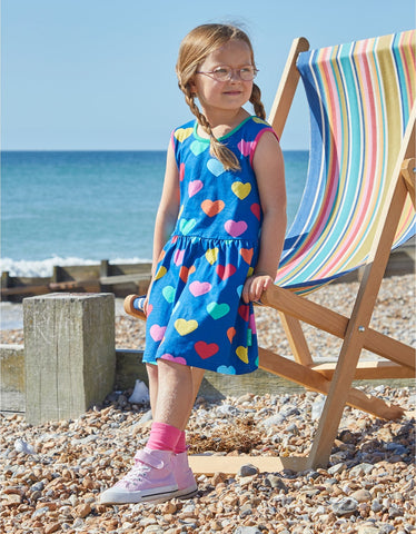 Image of Toby Tiger Multi Heart Print Summer Dress