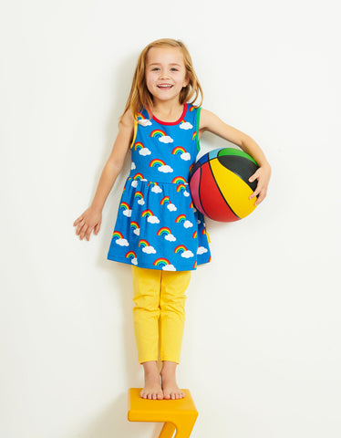 Image of Toby Tiger Multi Rainbow Print SS Summer Dress