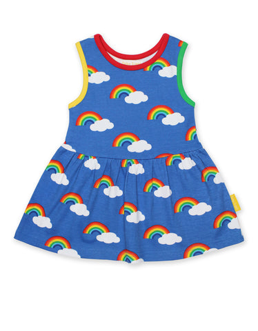 Toby Tiger Multi Rainbow Print SS Summer Dress