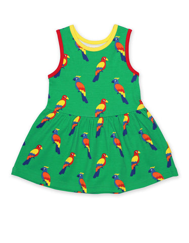 Image of Toby Tiger Parrot Print SS Summer Dress