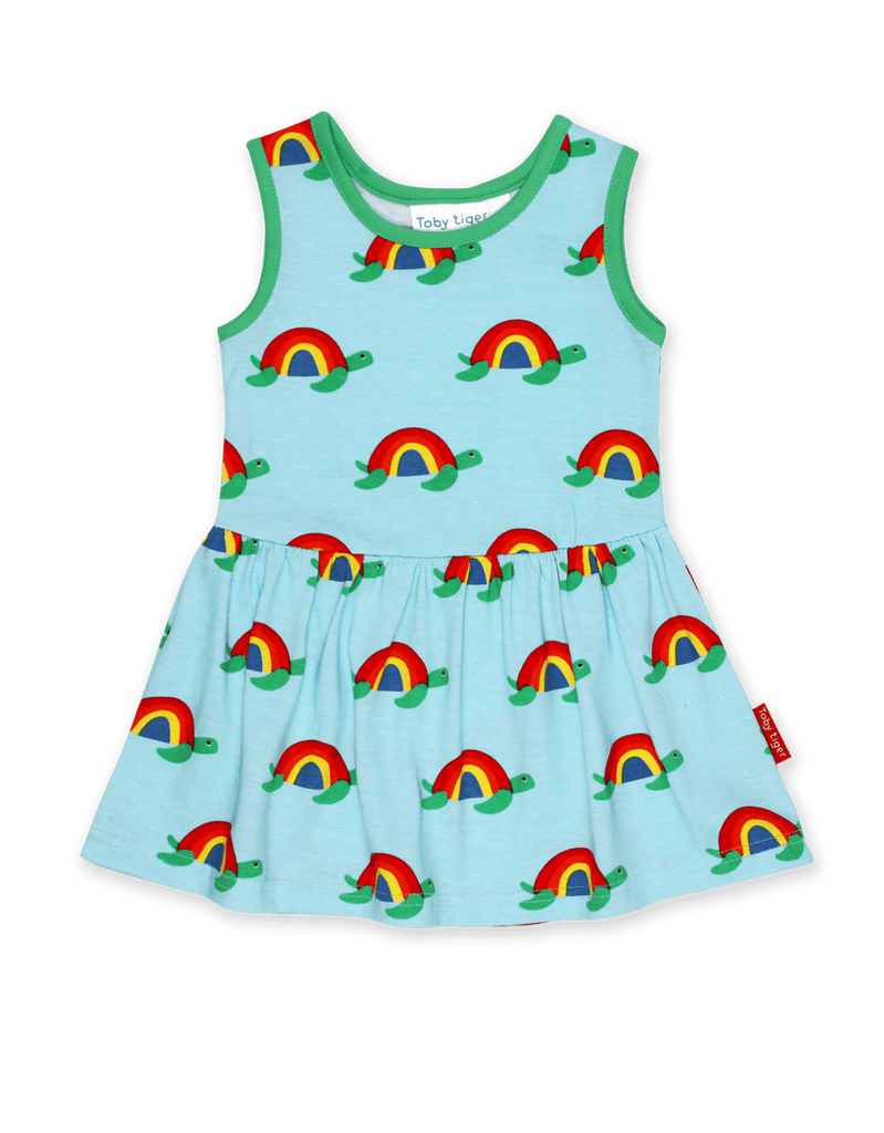 Toby Tiger Multi Turtle Print Summer Dress