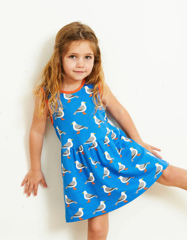 Toby Tiger Seagull Print SS Summer Dress