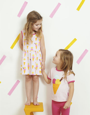 Image of Toby Tiger Ice Cream Print Summer Dress