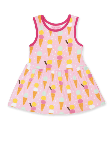 Toby Tiger Ice Cream Print Summer Dress