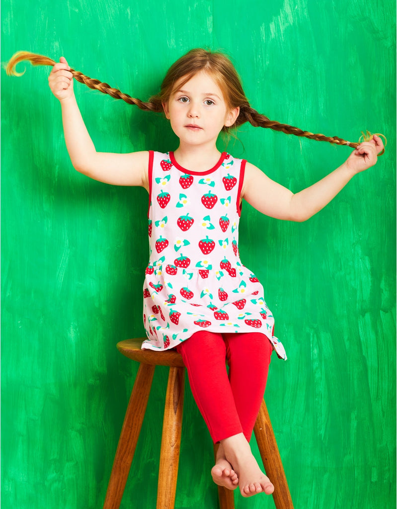 Toby Tiger  Strawberry Print Summer Dress