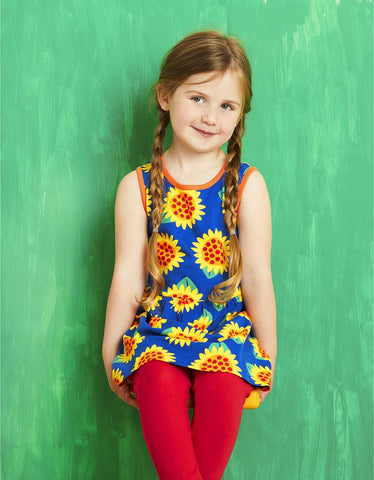 Toby Tiger Sunflower Print Summer Dress