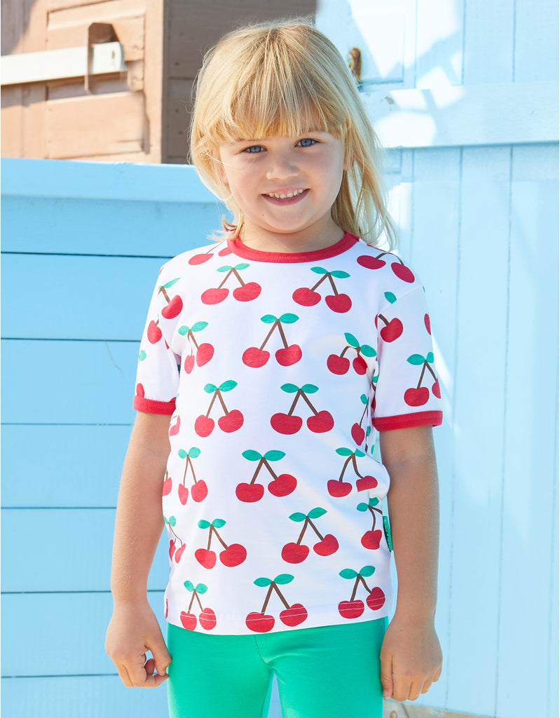 Toby Tiger SS T-Shirt - Cherry