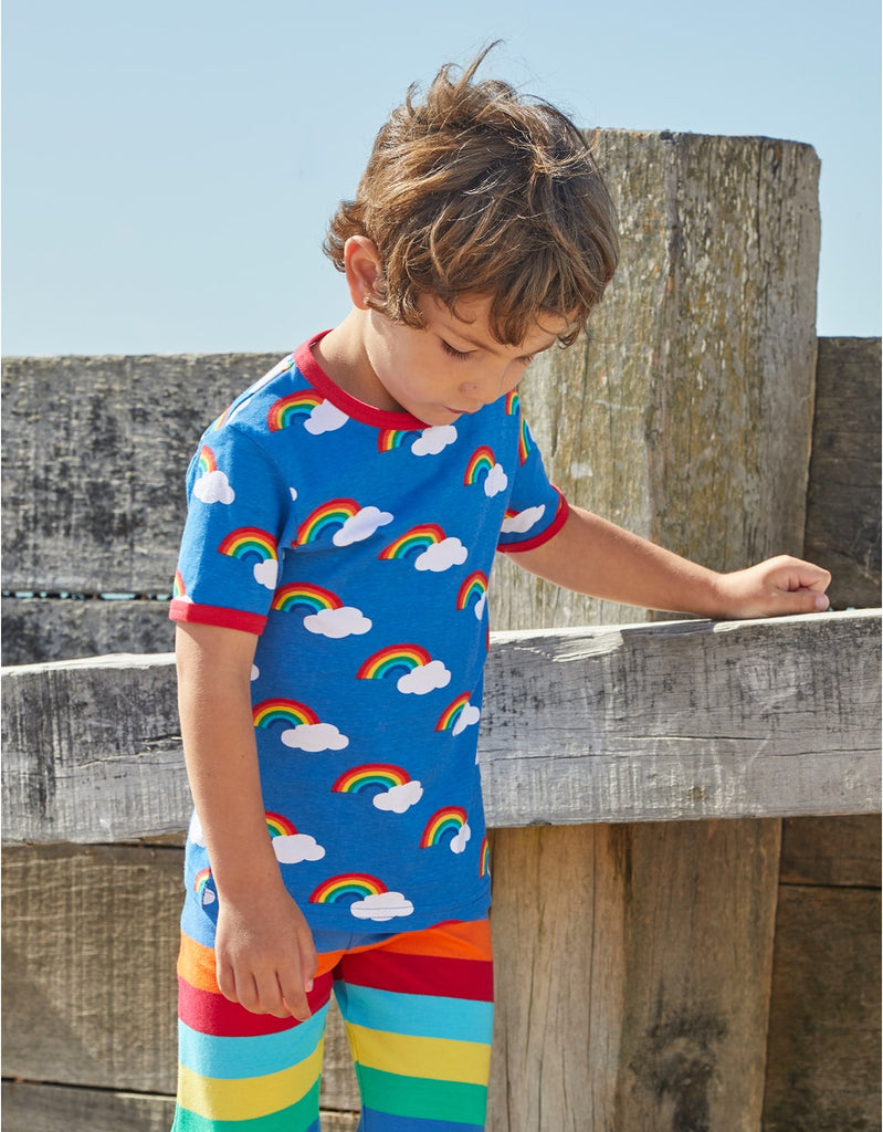 Toby Tiger SS T-Shirt - Multi Rainbow