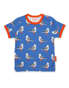 Toby Tiger Seagull Print SS T-Shirt