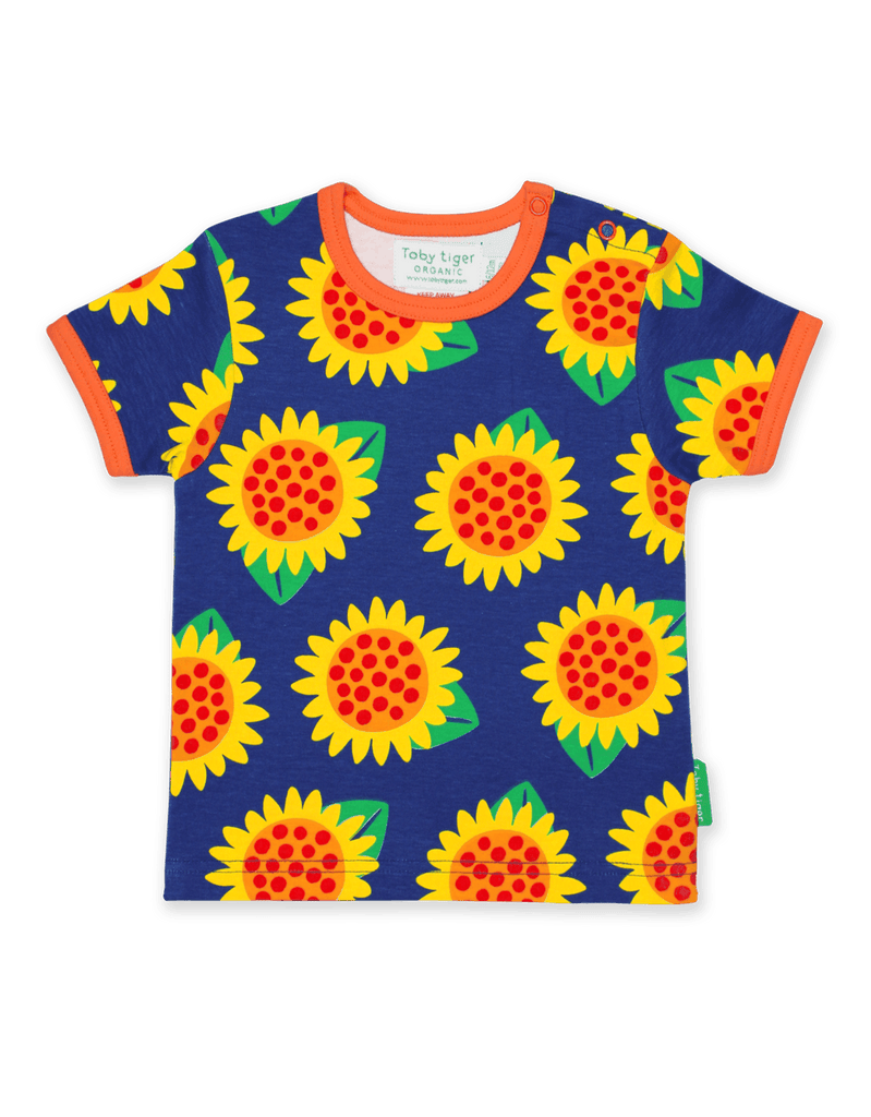 Toby Tiger Sunflower Print SS T-Shirt