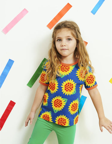 Image of Toby Tiger Sunflower Print SS T-Shirt