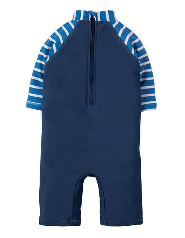 Image of Frugi Little Sun Safe Suit - Marine Blue / Puffin