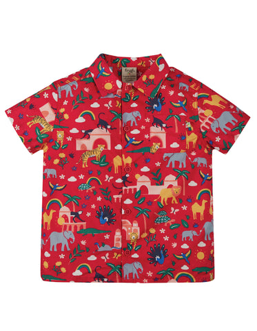 Frugi Harvey Hawaiian Shirt - True Red India