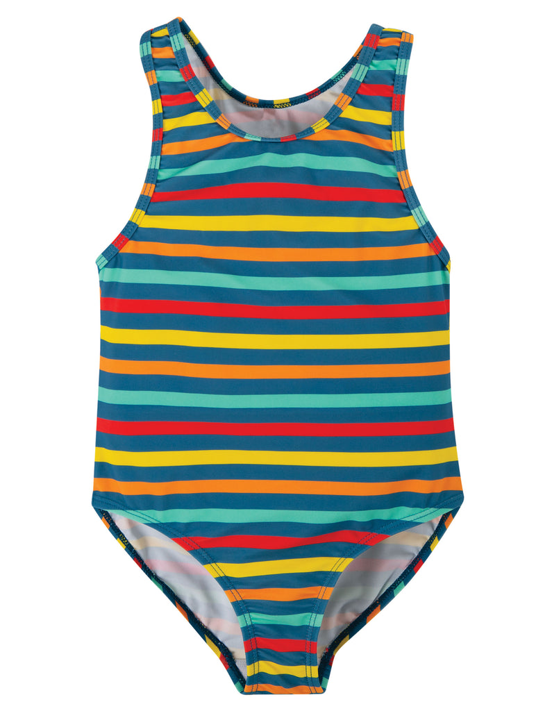 Frugi Sally Swimsuit - Swim Stripe