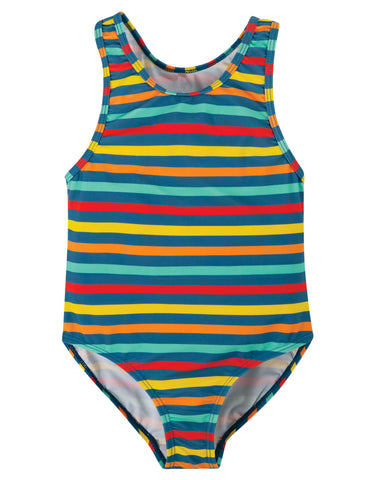 Image of Frugi Sally Swimsuit - Swim Stripe