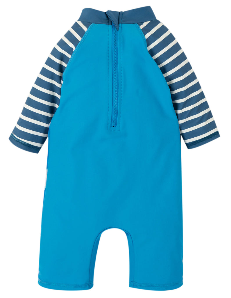 Frugi Little Sun Safe Suit - Motosu Blue/Shark